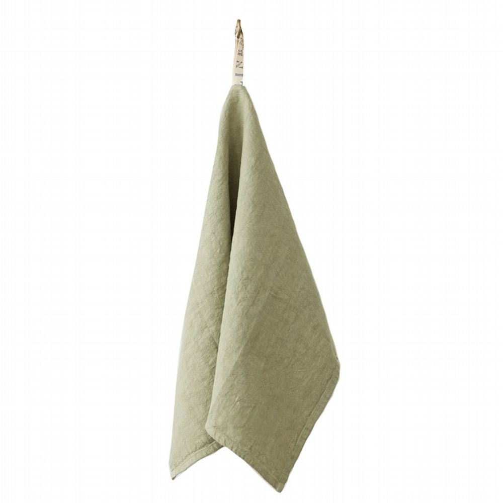 Linen Tea Towel - Sage